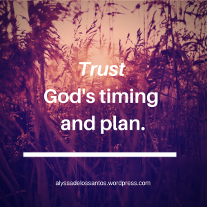 Blog Trust God's Timing